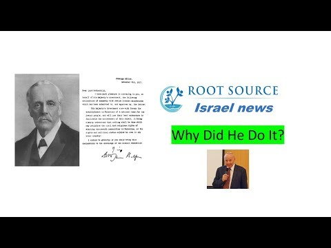 RS News - Lord Balfour - Why did he do it?