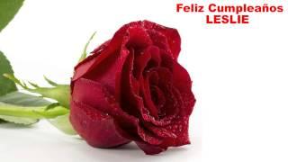Leslie - flowers - Happy Birthday
