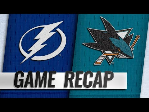 Kane scores twice to help Sharks beat Lightning