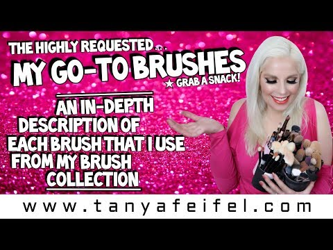 As Requested! | My Go-To Brushes & An In-Depth Description of Each! | Grab a Snack! | Tanya Feifel