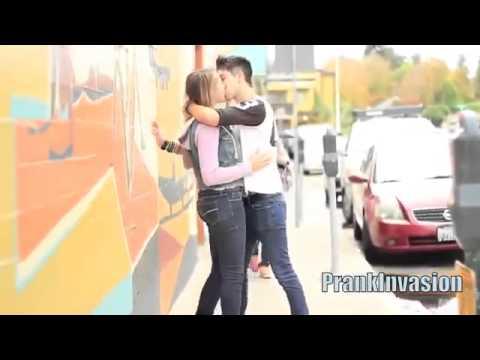 Kissing Prank GONE RIGHT   Guess My Name KISSING Prank   Kiss Pranks 2015