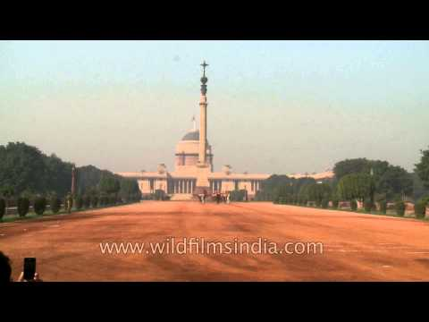 Equestrian display & Military band at the Rashtrapati Bhavan during the changing of guard