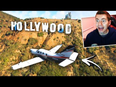 ANDEI DE AVIÃO na CIDADE DO GTA 5!!! (LOS SANTOS) - Flight Simulator 2020