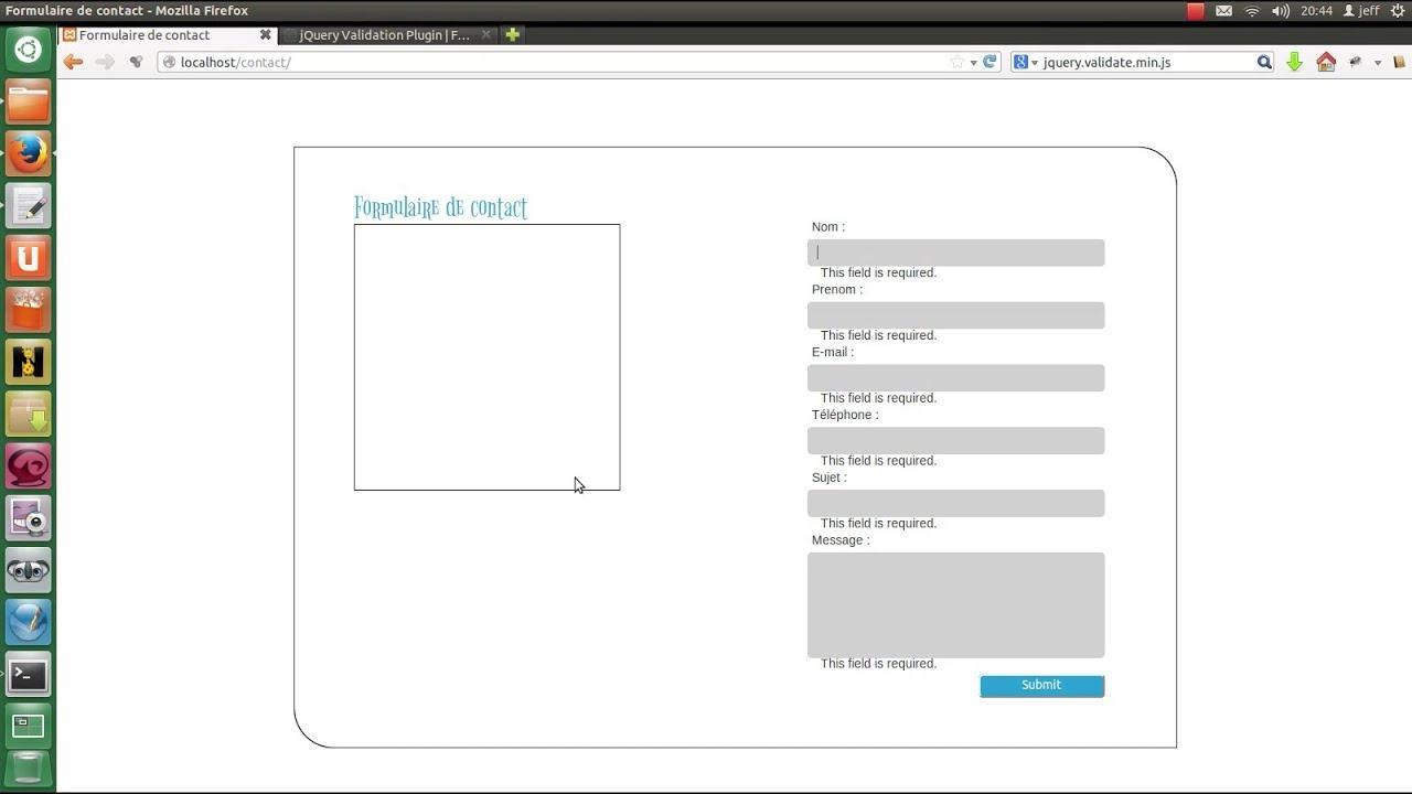 Tutoriel formulaire de contact validation des donn es en - Formulaire de contact ...
