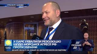 Береза: ухвалення резолюції ПАРЄ - це перший крок до звільнення українських моряків