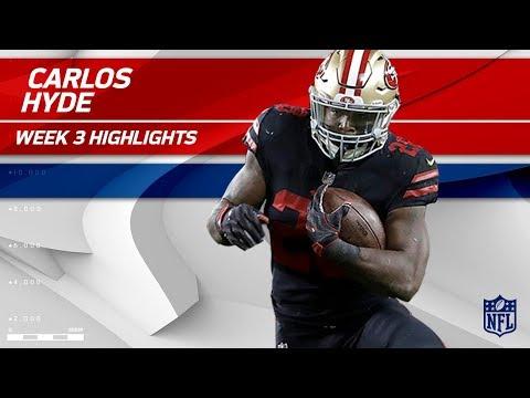 Carlos Hyde Powerful 2 TD Game!💪 | Rams vs. 49ers | Wk 3 Player Highlights