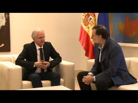 AFP: Madrid: Rajoy reçoit l'ancien maire de Caracas Ledezma, en exil