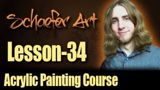 34 - Scumbling - Acrylic Painting Course