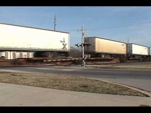 NorthBound Intermodal Freight at Eufala Street, Norman Oklahoma