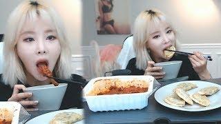 매운 팔당 닭발+비비고 군만두 먹방 - 이설 풀영상 Mukbang eating show