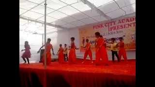 "India Waale song | children dancing on stage| pink city school|""sallu""