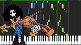 Bink's Sake - One Piece [Piano Tutorial] (Synthesia) // Marco Tornatore