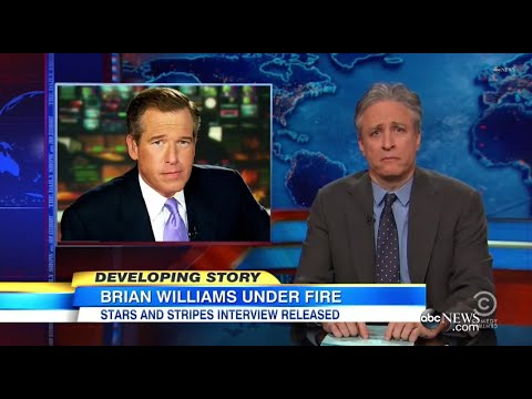 Jon Stewart Tackles Brian Williams' Helicopter Explanation