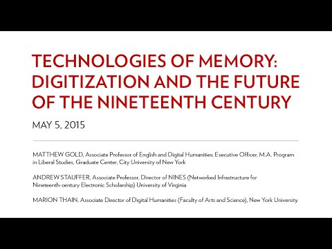 Technologies of Memory Digitization and the Future of the Nineteenth Century