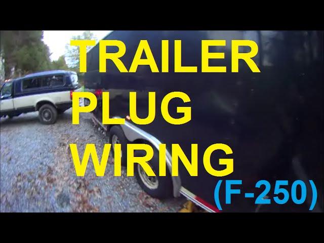 Trailer plug wiring f250 F150 F350 - YouTube   Ford F 350 Trailer Plug Wiring      YouTube