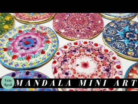 Mixed Media Mandala Token Mini Art
