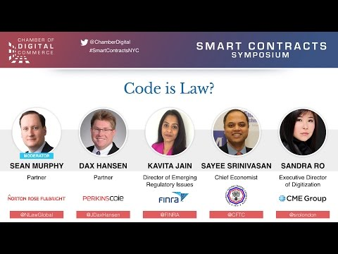 Panel: Code is Law? - Smart Contracts Symposium