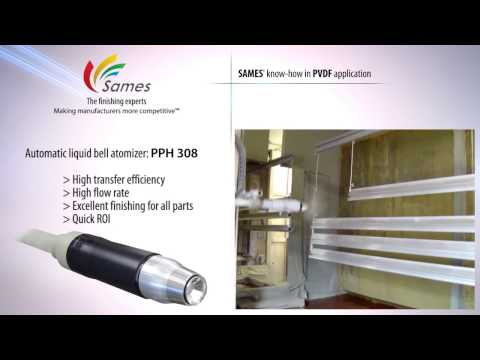 Spraying PVDF materials with the technology | SAMES KREMLIN