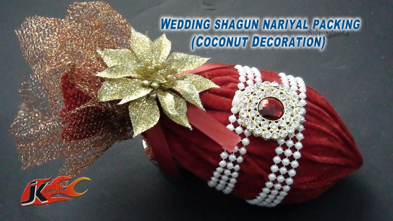 DIY Coconut Decoration For Indian Wedding | Shagun nariyal ...