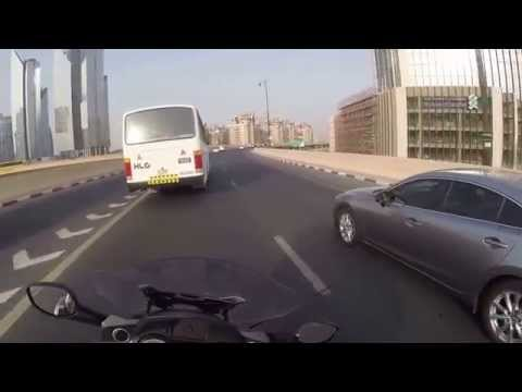 BMW K1600GTL , UAE Dubai ,ride in the traffic