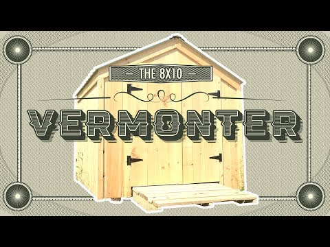 """The Vermonter Shed"" – 8X10 to 10X20 – General Storage Shed – Build or Buy – DIY Pre Cut Kit or FA"