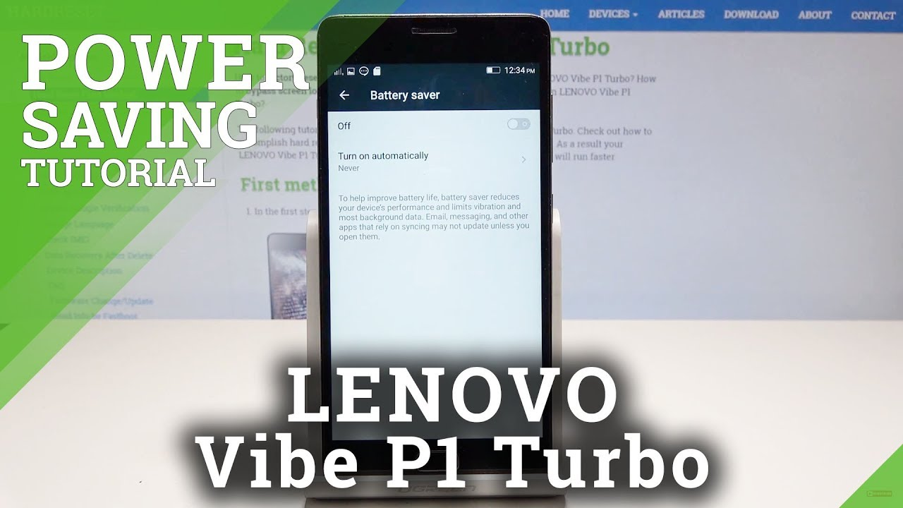 How to Extend the Battery Life in LENOVO Vibe P1 Turbo - Activate Power  Saving Mode