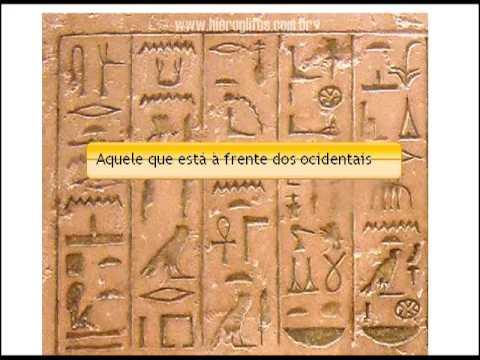 Resultado de imagem para Hieroglifos egípcios