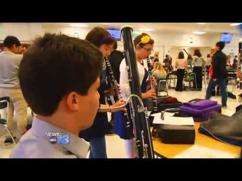 High School Band Members Audition for All-County