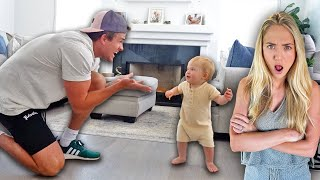 Pranking Savannah That Our Baby Takes His First Steps Without Her... (HER REACTION LOL)