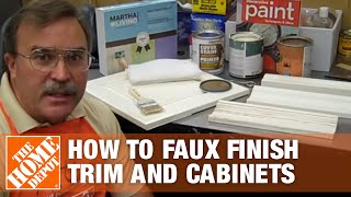 How To Faux Finish Trim And Cabinets