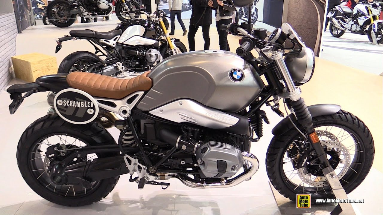 2016 bmw r ninet scrambler - walkaround - 2015 salon de moto paris
