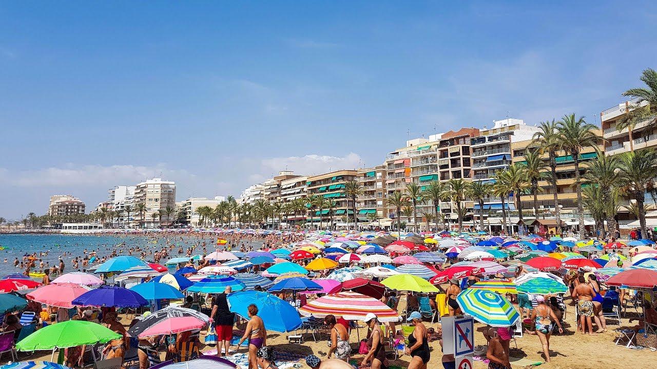 Karta Fran Alicante Till Torrevieja.Torrevieja Beach Playa Del Cura Spain Youtube