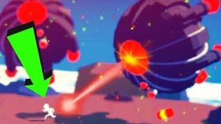 Страный Мультяшный Человечек спасает людей и борется с Инопланетянами мультик игра для детей