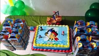 Decoracion cumpleaños Jake el pirata