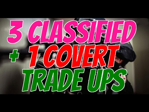 Crafting best SKINS in CS:GO : 3 Classified & 1 Covert Trade Up contracts #75