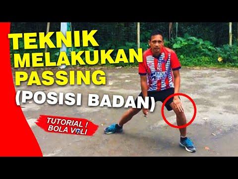 Teknik Passing Bawah (Posisi Badan) - Tutorial Bola Voli