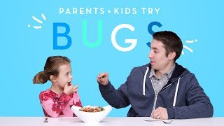 Kids and Their Parents Eat Bugs! | Kids Try | HiHo Kids