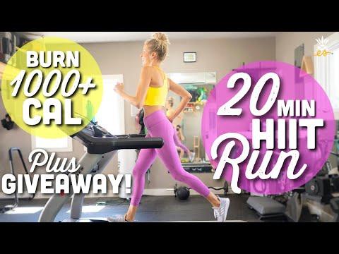 20-Min Interval Run + Giveaway! | Burn 1000+ Calories