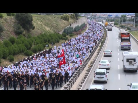 Turkey 'justice march' continues into 21st day