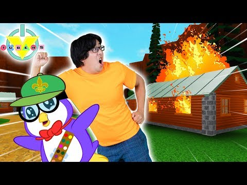 ESCAPE SUMMER CAMP OBBY in ROBLOX ! Lets Play Ryans Daddy vs Peck