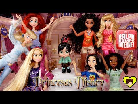 Muñecas Divertidas de Princesas Disney y Juguetes de Ralph 2 Rompe Internet