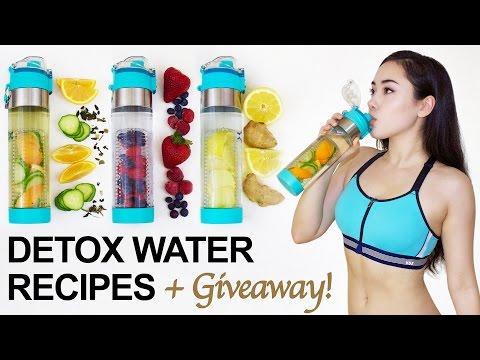 �� 3 DETOX WATER RECIPES to BURN BELLY FAT + Giveaway! ��