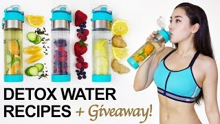 🍓 3 DETOX WATER RECIPES to BURN BELLY FAT + Giveaway! 🎁