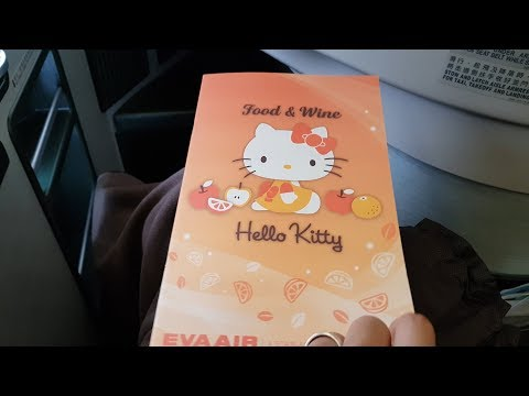 CUTEST flight EVER, HELLO KITTY flight from Taipei to Singapore