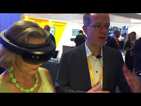 What's Driving the Future: Continental Cockpit Vision seen by using augmented-reality glasses IAA