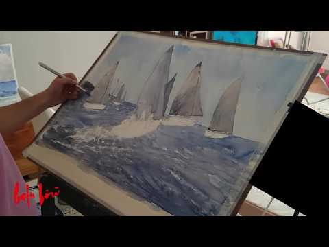 How to Paint Yachts – Watercolor Painting Demo (Short Version)