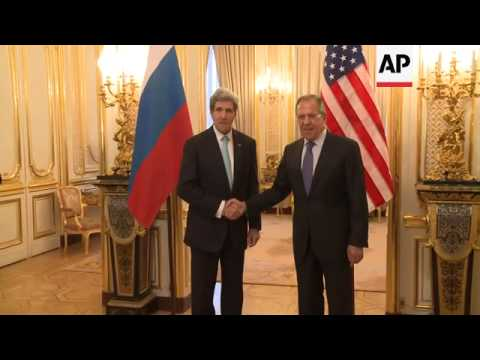 US Secretary of State John Kerry meets with Russian Foreing Minister Sergey Lavrov to discus the ong