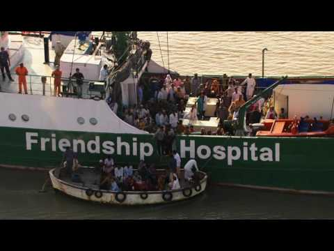 Greenpeace's Rainbow Warrior transformed into a Hospital Ship | Friendship Charity Bangladesh