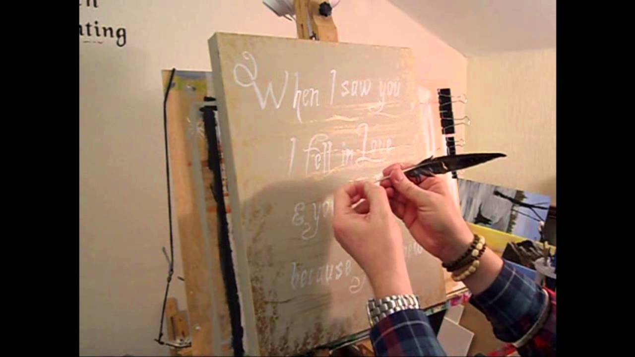 Letters  Words Acrylic Painting  YouTube