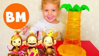 ВМ: Играем в Падающие обезьянки| Playing Mattel Tumblin Monkeys